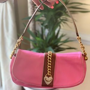 Juicy Couture Pink and Brown Leather bag